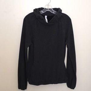 Lululemon Cowl Neck Pullover Sweater Dark Gray 10